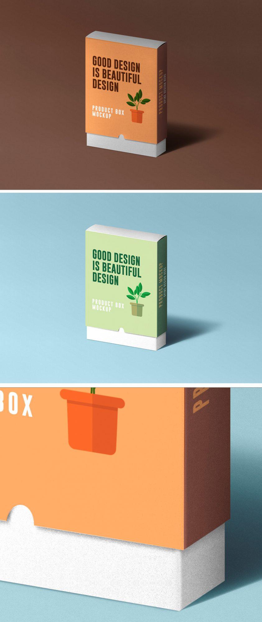 Slide Product Box Mockup - Free Mockup Download