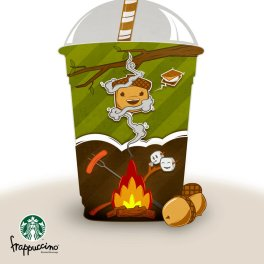 Starbucks fan art from a design competition
