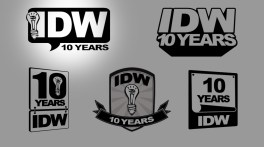 Concepts & winning design for annivarsary logo contest from IDW Publishing