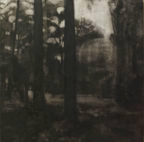 La relation aux sources - tempera sur toile 180 x 180 cm - collection particulière
