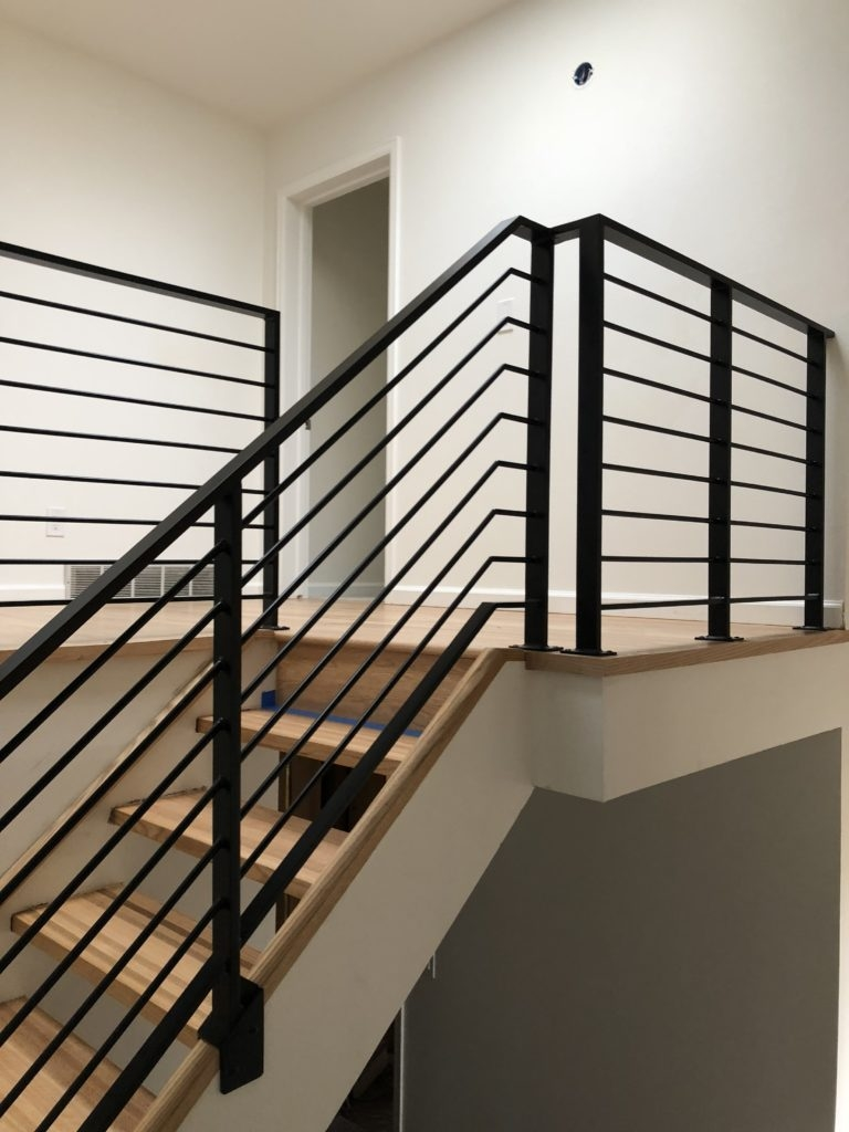 Mclean Forge And Welding Custom Indoor Railing Boulder Co   Black Iron Railing Indoor   Iron Balusters   Railing Ideas   Staircase   Paint   Handrail Stairs