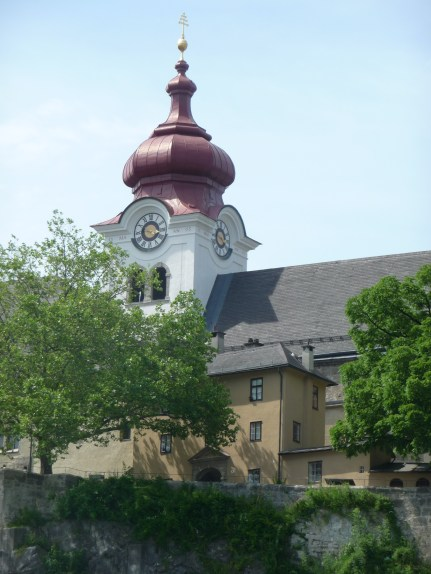 The exterior of Nonnberg Abbey--Maria's home while she was a postulate