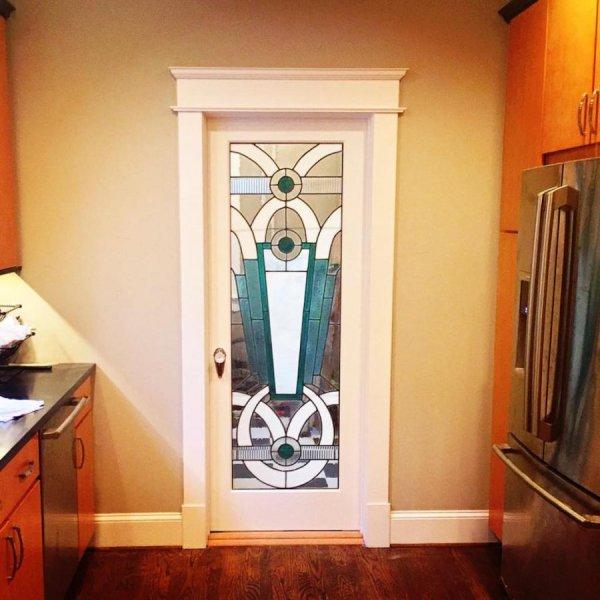 Art Deco Cabinet Glass Door