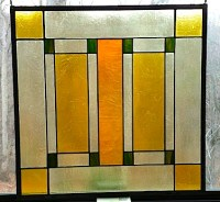 Arts & Crafts (Mission) Style Glass panel   McLean Stained ...