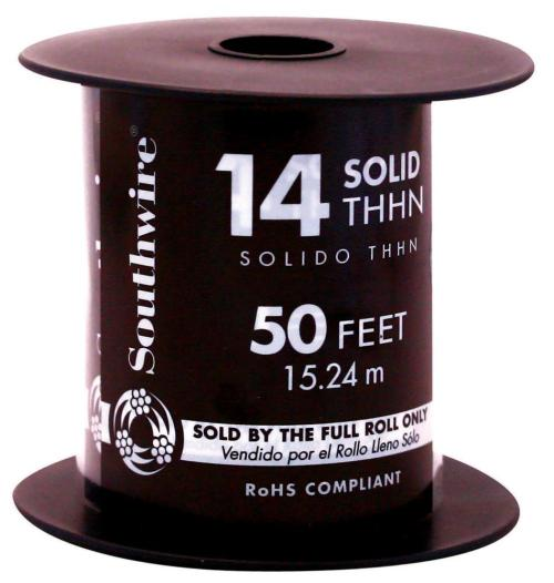 small resolution of white 12 gauge solid thhn wire
