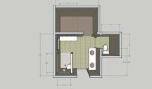 The initial design floorplan