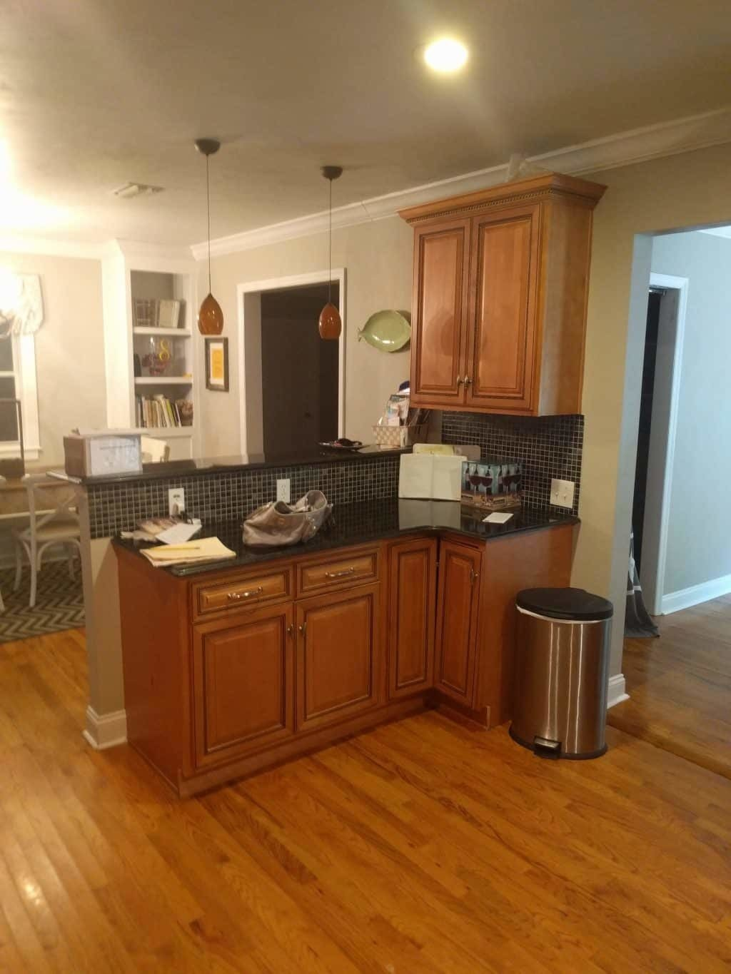 Cabinet Refacing Project White Shaker Kitchen With A