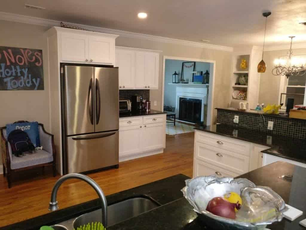 Painting kitchen cabinets remodeling tallahassee mcmanus kitchen - White Shaker Kitchen Cabinet Refacing Tallahassee