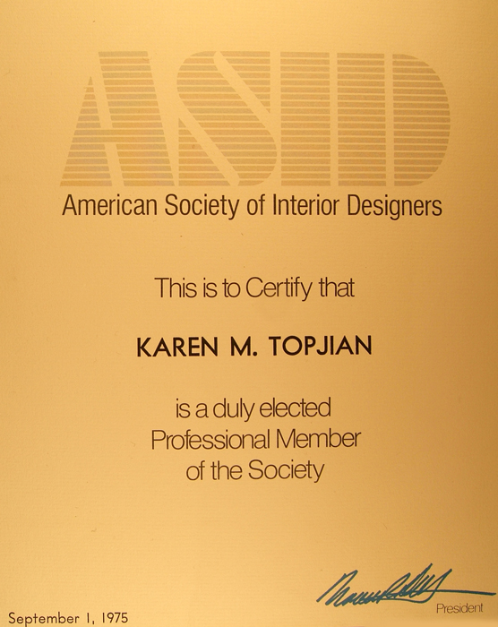 Asid Professional Member Since 1975