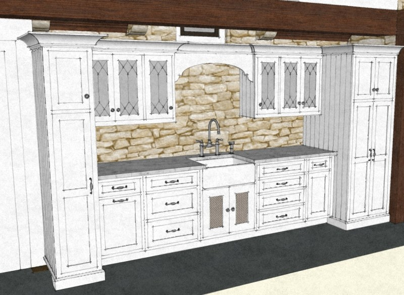 large butler's pantry traditional