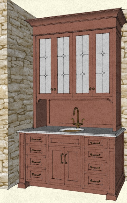 Traditional butler's pantry