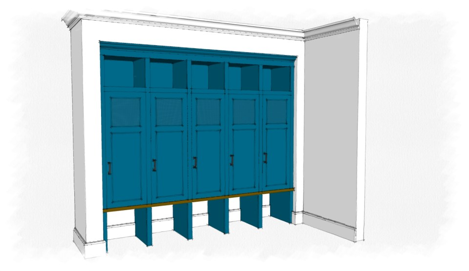 mudroom lockers sketch