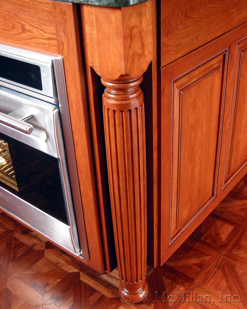 cabinet detail with ceautiful wood finish