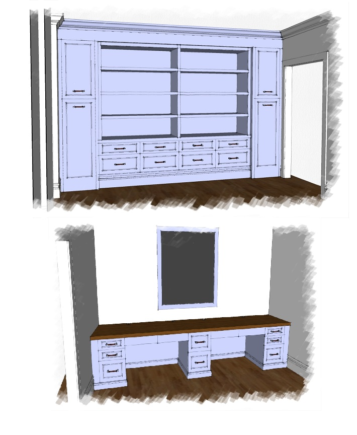 custom finish home office