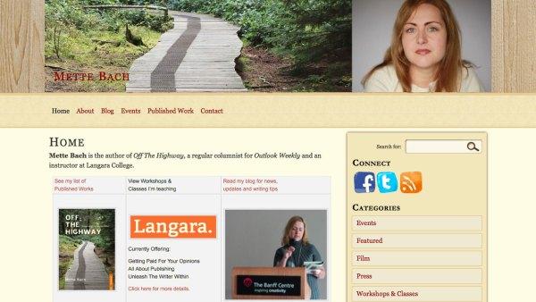 Screenshot of MetteBach.com