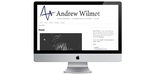 Website design for Andrew Wilmot