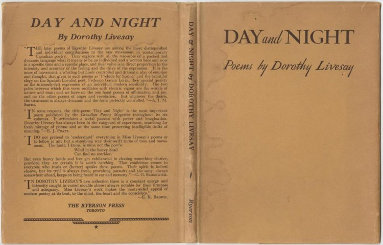 Day and Night by Dorothy Livesay (Ryerson, 1944)