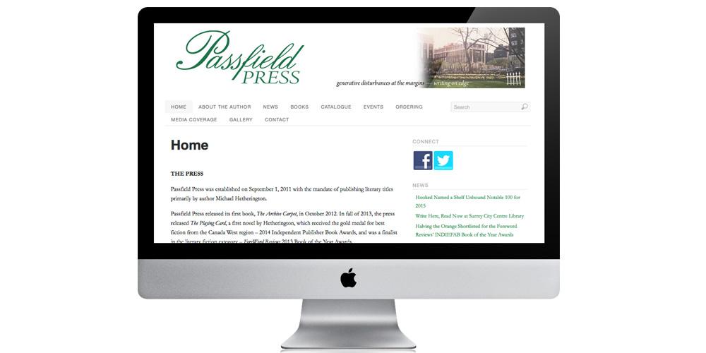 Passfield Press website