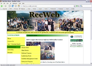 RecWeb at Langara College