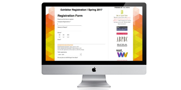 WBRA website with online registration