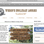 Webb's Holiday Acres -- website since 2010