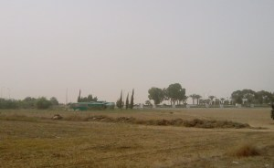 Dust brings everything to a halt in Larnaca
