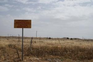 Warning minefield!