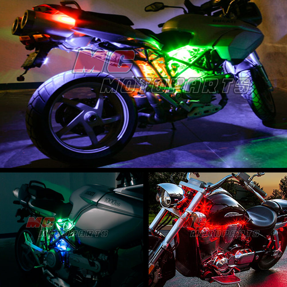 5050 led strip wiring diagram 2008 ford f150 stereo flexible rgb multi color smd light x12 for yamaha motorcycles ebay
