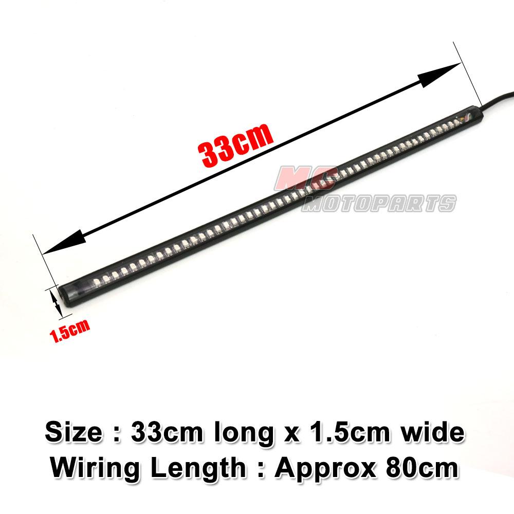 33cm Rear Brake & Amber Indicator 3528 LED Light Strip For