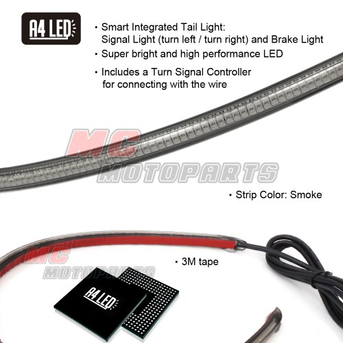 small resolution of 30cm integrated led turn tail signal light for ducati yamaha kawasaki motorcycle