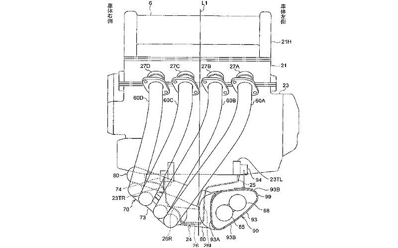 Exhaust patents reveal next generation Honda Fireblade