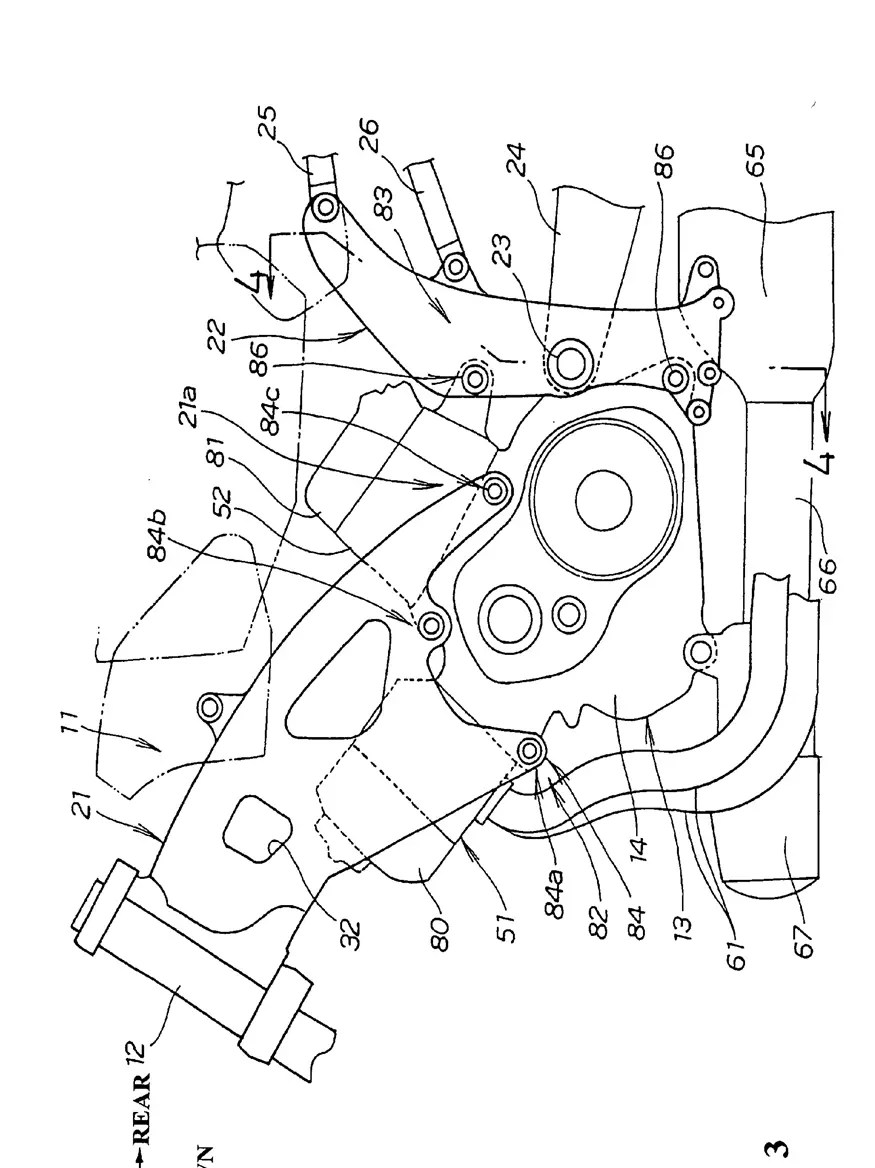 2008 Honda VFR revealed in new motorcycle patent