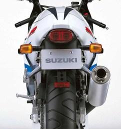 suzuki gsx r600 motorcycle review rear view  [ 800 x 996 Pixel ]