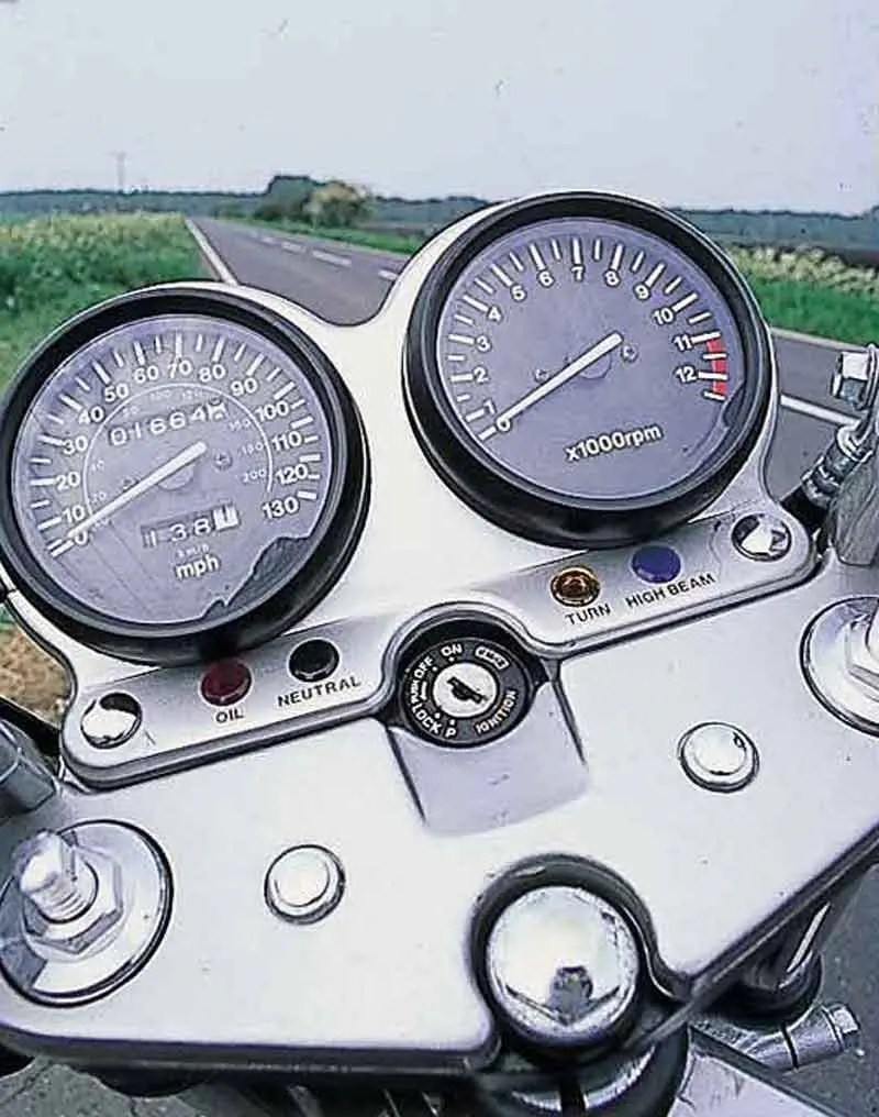 hight resolution of  suzuki gs500e motorcycle review instruments