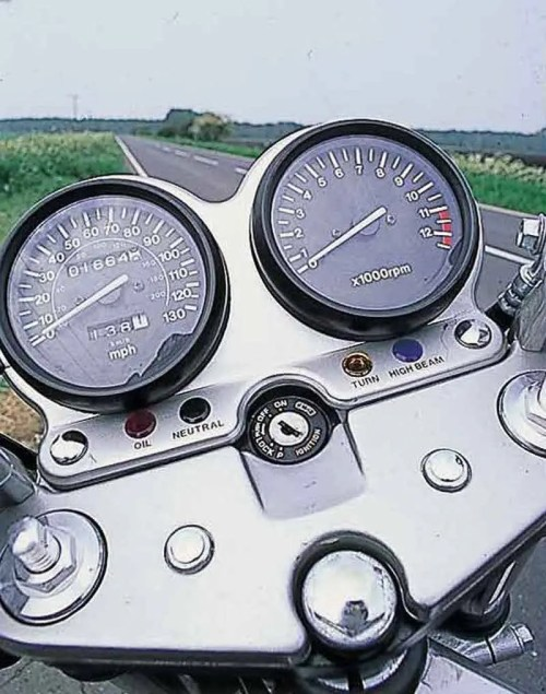 small resolution of  suzuki gs500e motorcycle review instruments