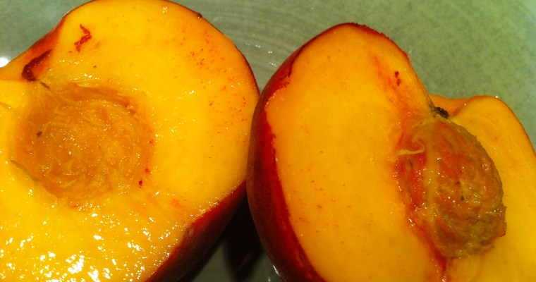 How to take the pit out of a peach or other stone fruit