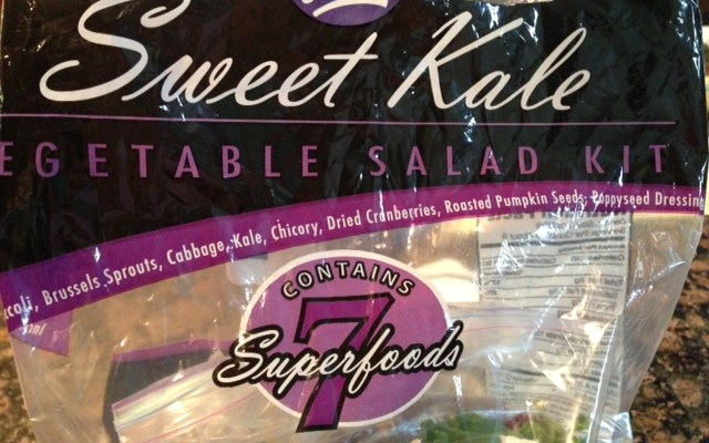 What is a Superfood? Sweet Kale Vegetable Salad Kit