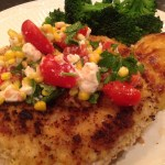 Lightened-up chicken cutlet with a taste of summer