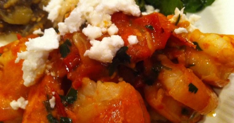 Shrimp Saganaki – Sauteed Shrimp with Tomatoes and Feta
