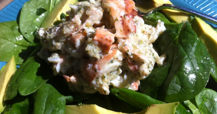 Roasted Tomatillo and Lobster Salad