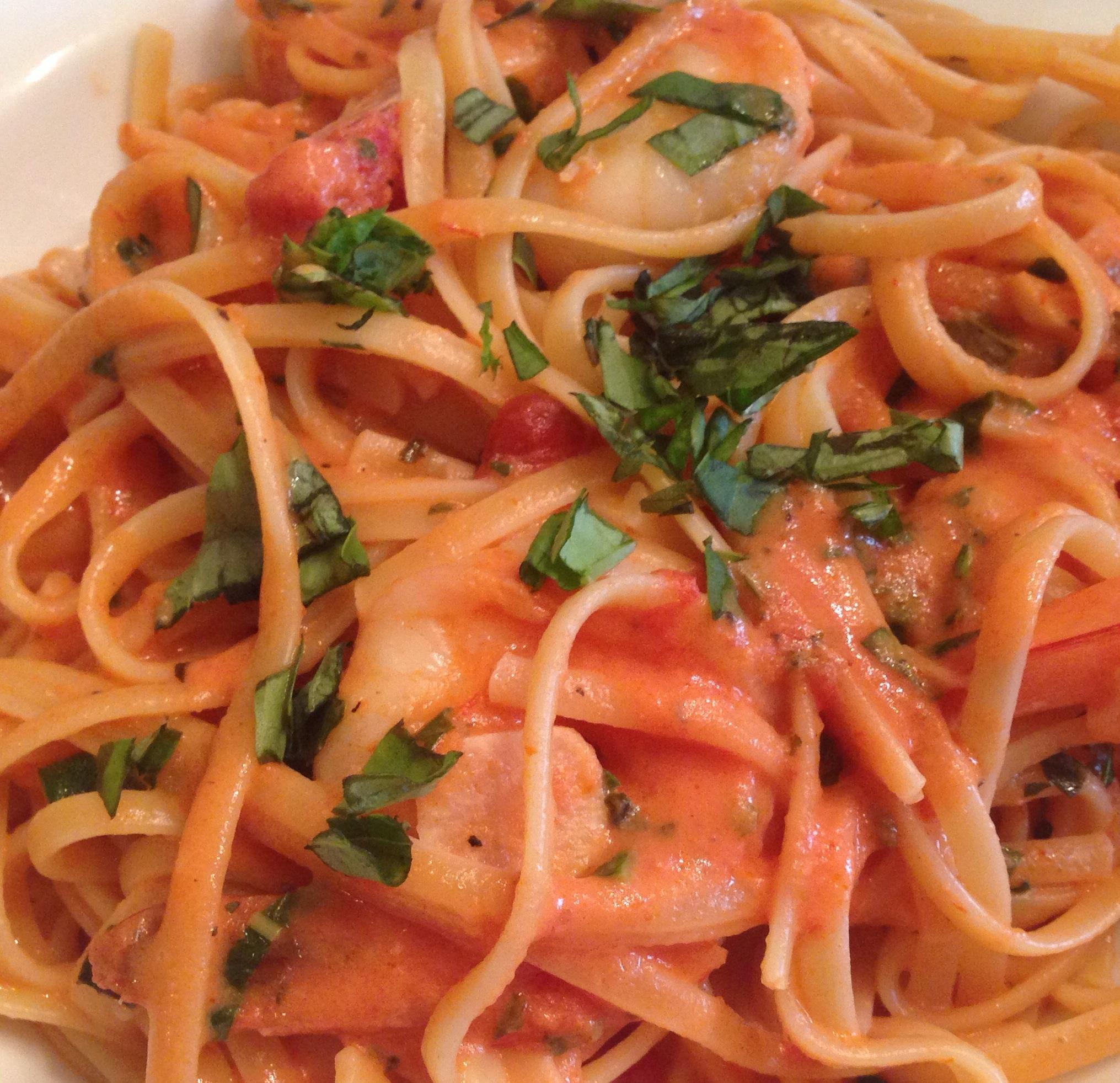 Vodka Pasta with Shrimp