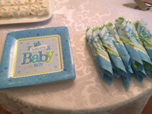 Catered brunch for baby shower