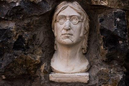 John Lennon bust in McNamee's Garden