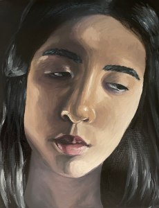 SOPHIE QUI , i feel dull, oil on canvas, 2021