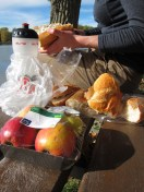 Standerd lunch - Bageutte: 70cents, Brie: 99cents & Apple 40cents. Who says living like a king costs money?