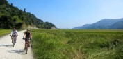 Riding out of Pokhara.
