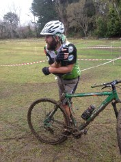 Pete trying his hand at winter cyclocross