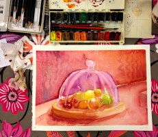 Took a water colour painting class