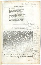 Whitman on Leigh Hunt