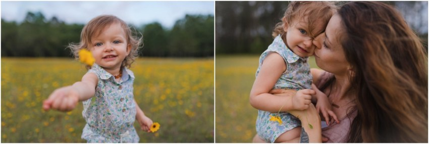 toddler girl giving flower to mommy | Jacksonville Family Photographer